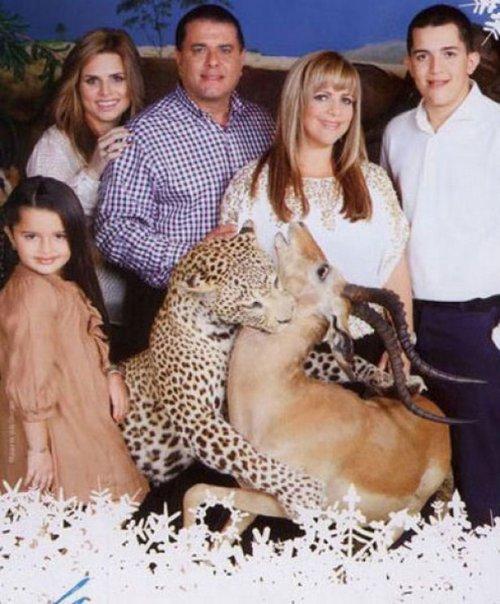 Странные и смешные семейные фотографии