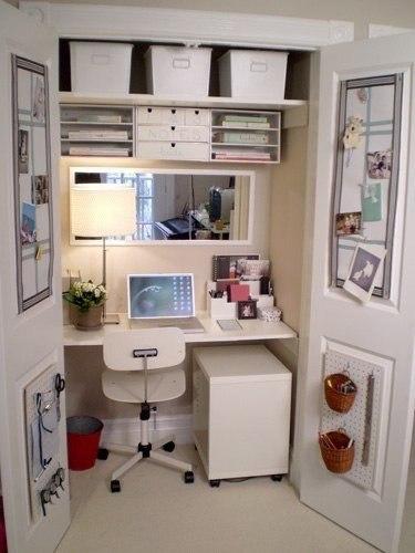 Домашний офис на 1 квадратном метре