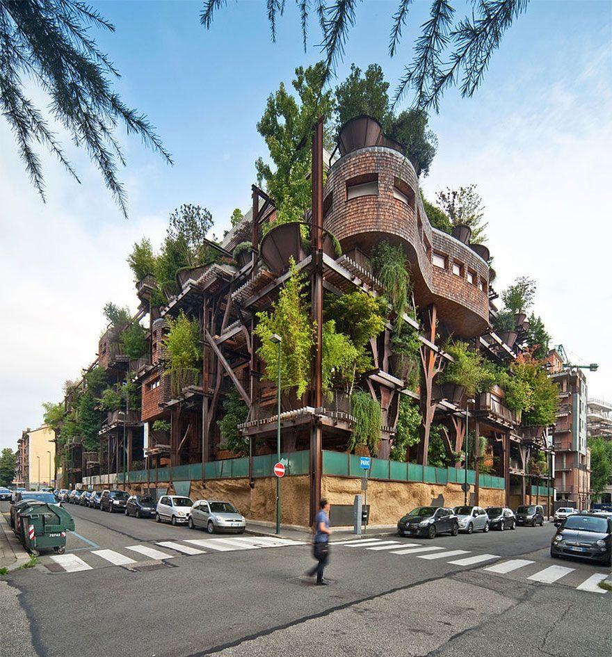 Экодом с деревьями «25 Green»