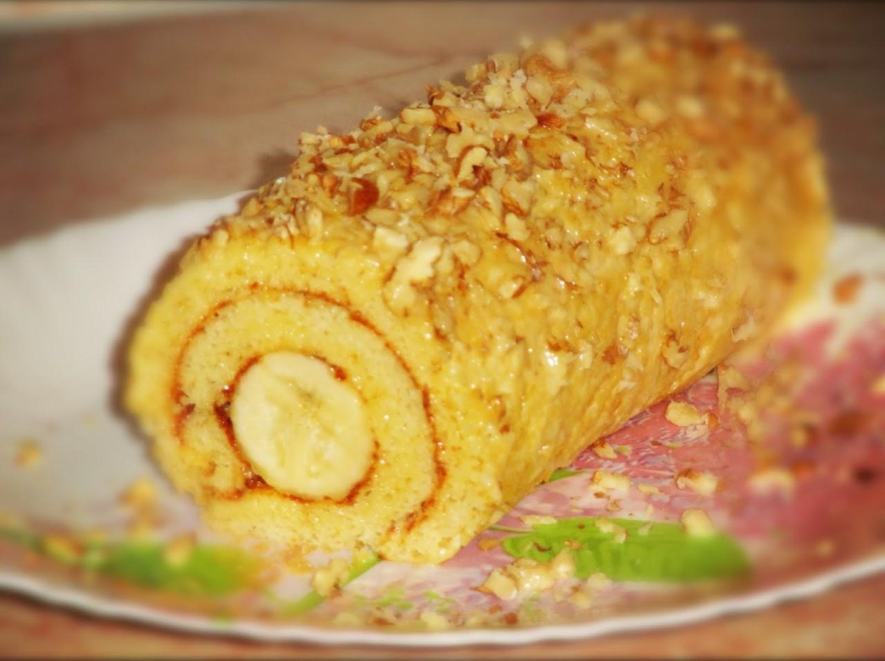 Домашний пирог с бананом с фото