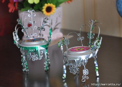 Идеи подарка для свадьбЁлка из бросового материала