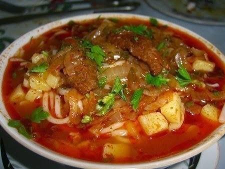 Лагман - узбекский густой суп - простое в приготовление аппетитное блюдо