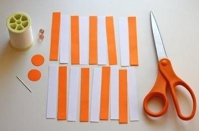 Ёлочная игрушка из бумаги