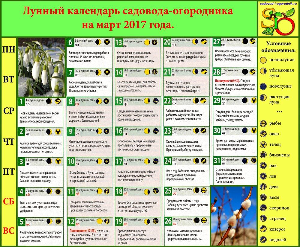 официальными посевной календарь на май 2017 для огородников Братск