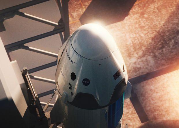 Первый полет Crew Dragon пер…
