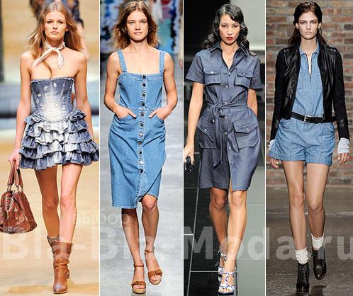 Деним: платье D&G, сарафан Stella McCartney, платье G-Star, комбинезон Rag & Bone