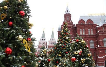 Москва путешествует в Рождество. Фотогалерея