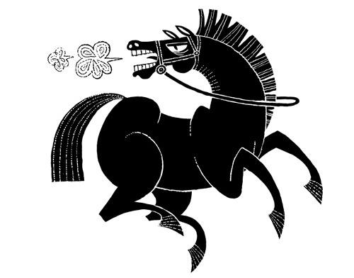 Лошадки на любой вкус! Трафареты и шаблоны.