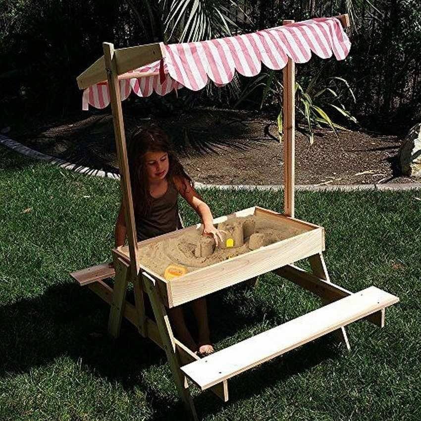 Песочница для детей. 11 прос…