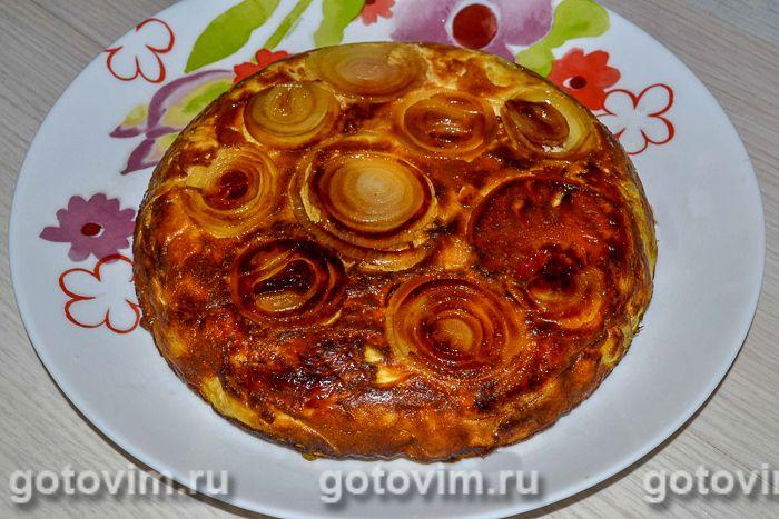 Мандирмак - дагестанская картофельная запеканка на сковороде . Фотография рецепта
