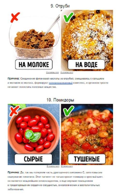 Полезные продукты, которые мы ели неправильно