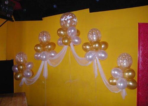 Украшения для свадебного зала шарами своими руками 125