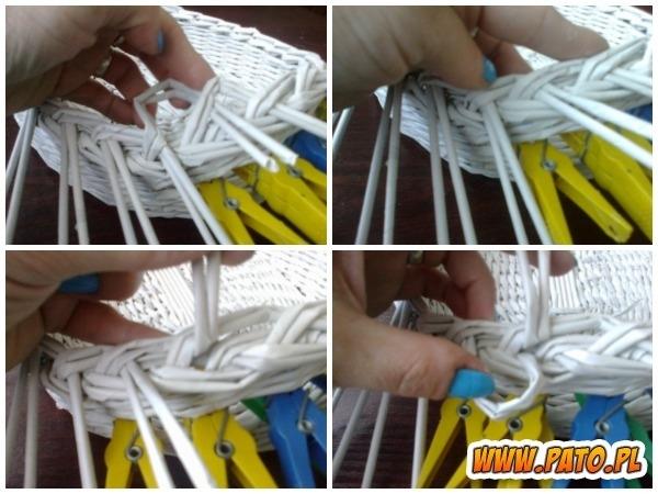 Мастер-класс по плетению корзинки из газетных трубочек (27) (600x450, 171Kb)