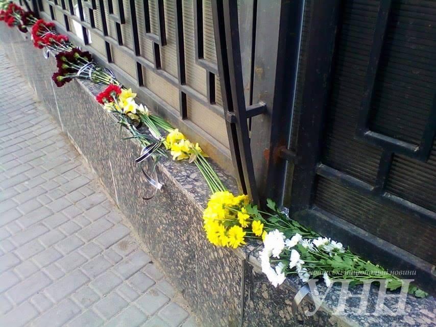 Украинцы почтили память погибших в результате теракта в метро Петербурга