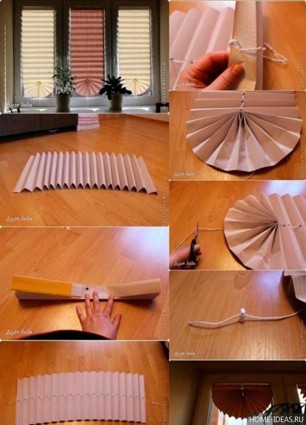 Как сделать шторы из своими руками фото