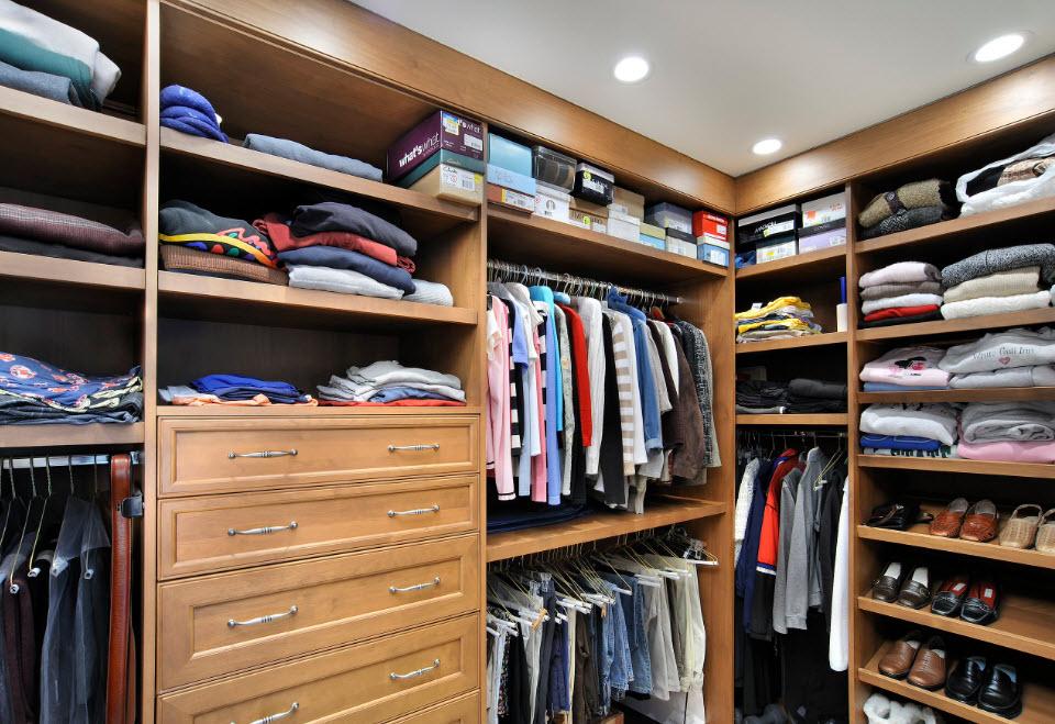 Полки, ящики и штанги углового шкафа