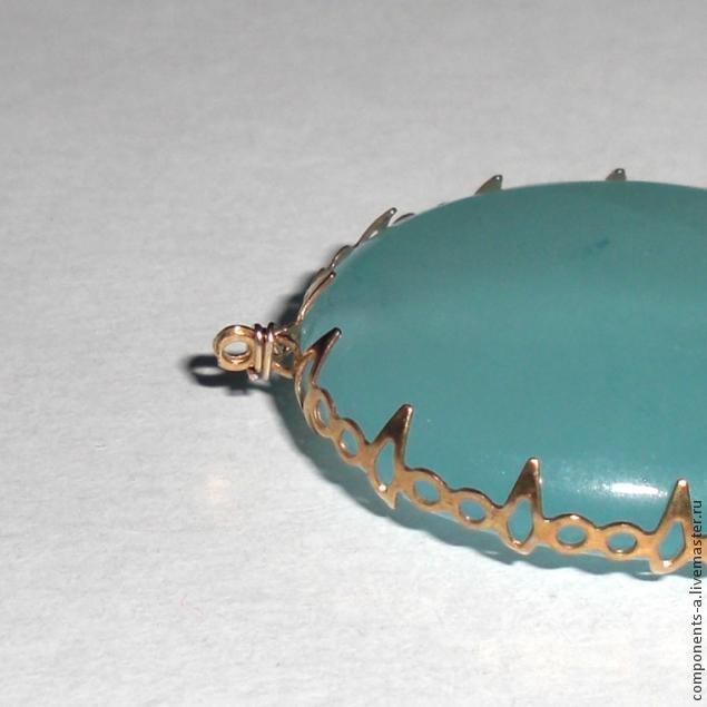 Оправа для кабошонов и камней без отверстий