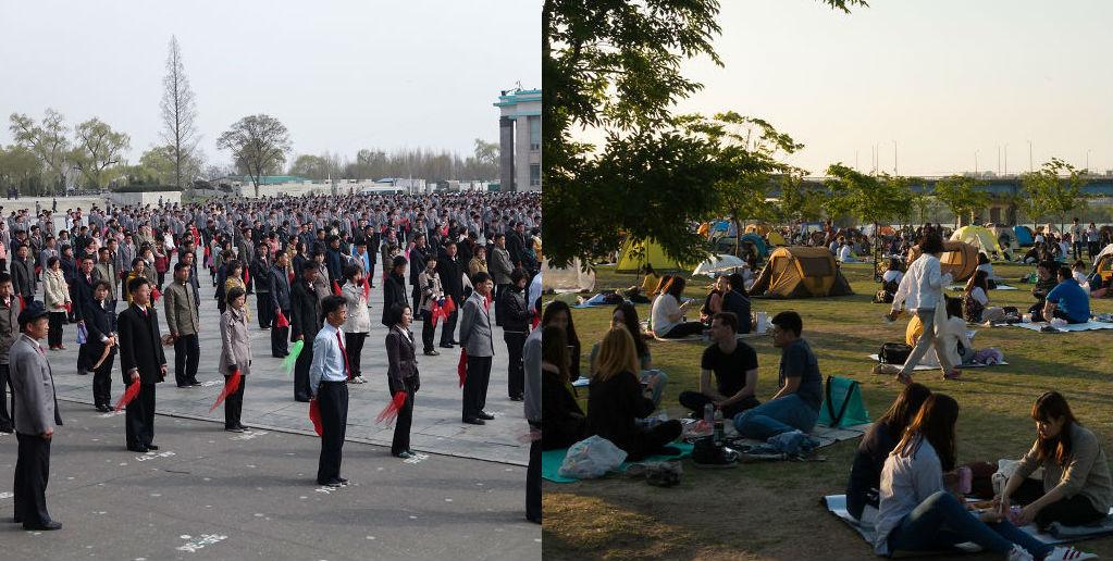 Они такие разные, но все-таки были вместе: Северная Корея vs Южная Корея