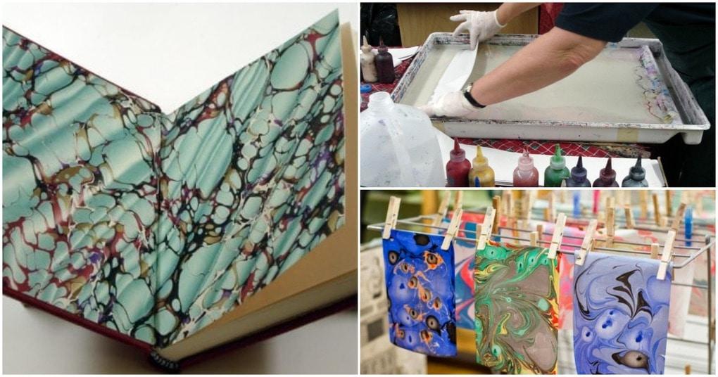 Мраморная бумага в японской технике суминагаши — очень просто и увлекательно