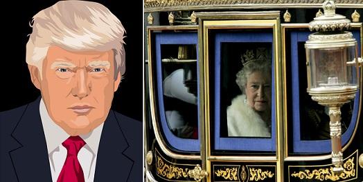 The Times: Трамп решил прокатиться вкарете английской королевы