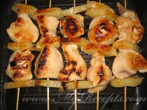Куриный шашлык с ананасом шаг5
