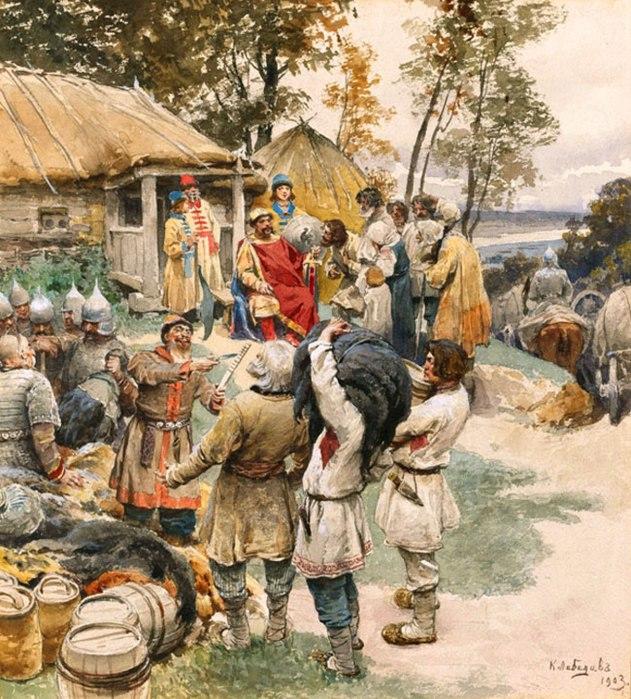 Стародавняя Русь в картинах Клавдия Лебедева.