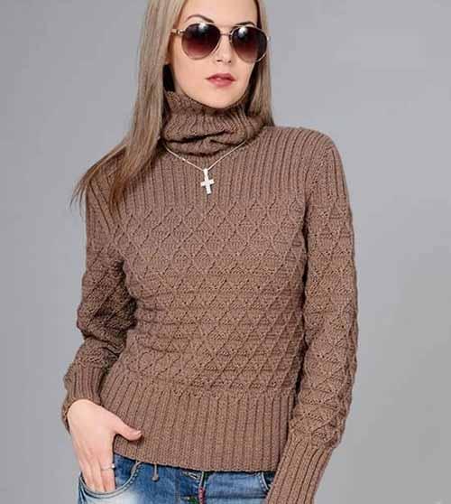 свитер с высоким воротником