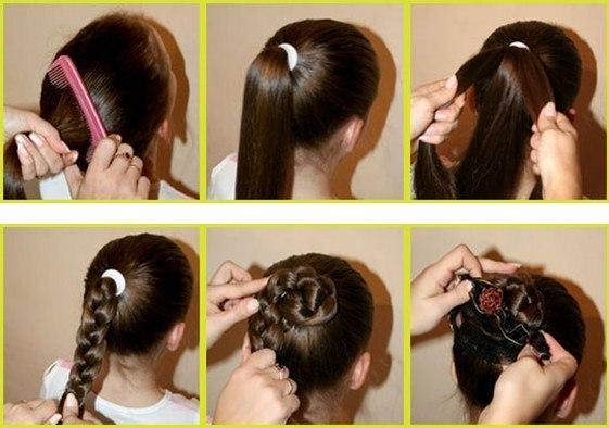 Как сделать красивые прически для детей на средние волосы