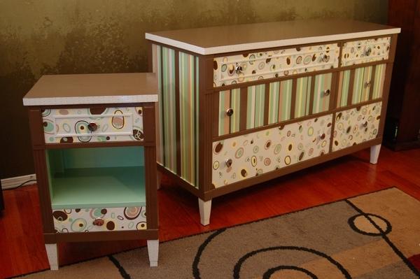 Декорирование мебели старой своими руками