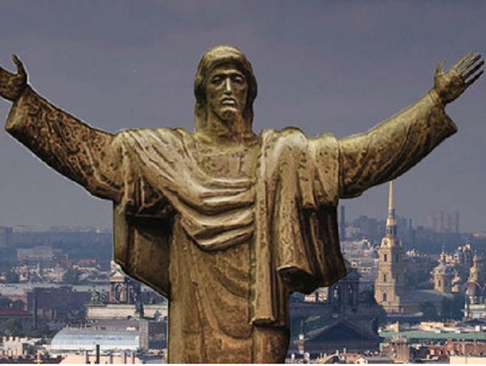 Монумент Христа Зураба Церетели.
