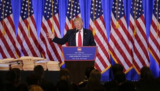 Трамп на первой пресс-конференции высказался о России, хакерах и фейках