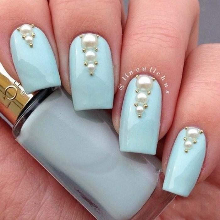 Жемчуг для декора ногтей. | Фото: Pinterest.