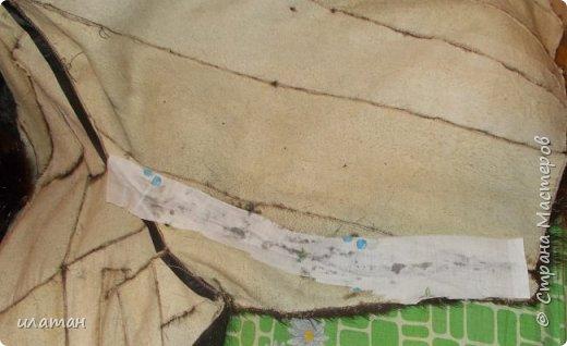 Гардероб Мастер-класс Шитьё Ремонт шубы из натурального меха Клей Мех Нитки Ткань фото 13
