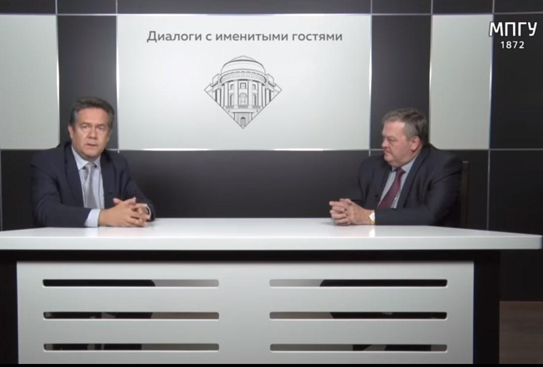 """Н.Н.Платошкин и Е.Ю.Спицын в студии МПГУ. """"Че Гевара и его социализм"""""""