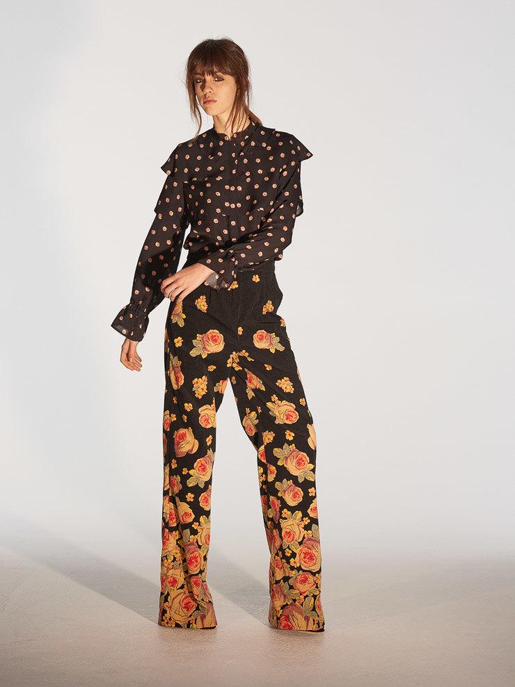 «Цветы в ночи», кимоно и воланы в коллекции Vilshenko Pre-fall 2017