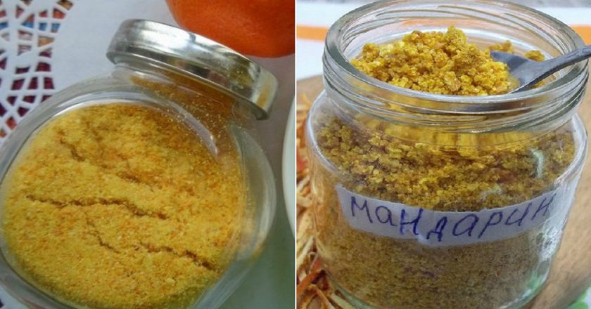 «Золотая пыльца» из мандарин…