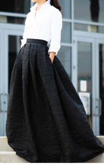 Уличный стиль лета 2016 — модные луки с длинной юбкой