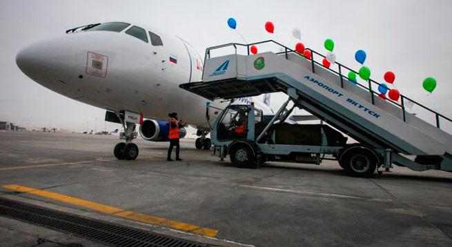 Авиакомпания «Якутия» получила новый самолет Sukhoi Superjet 100