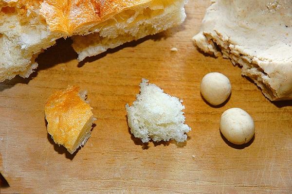 Хлеб в качестве насадки