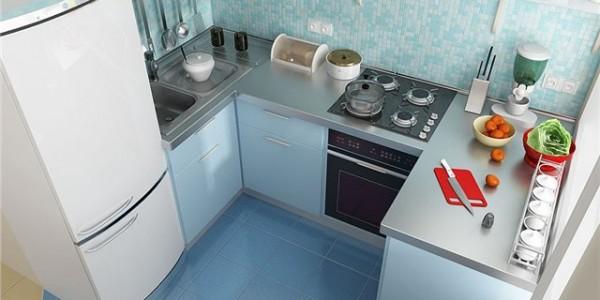 голубые кухни-6
