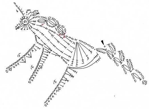 Муха схема вязания крючком 21