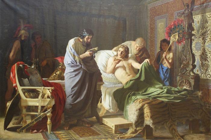 Доверие Александра Македонского к врачу Филиппу. Автор - Г. Семирадский, 1870