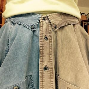 Оригинальная юбка из мужских рубашек