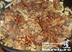 ragu is govyadini s kabachkami i baklaganami 07 Рагу из говядины с кабачками и баклажанами