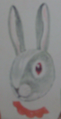 Выкройка новогодней маски кролика-зайца из бумаги. Новогодние костюмы своими руками