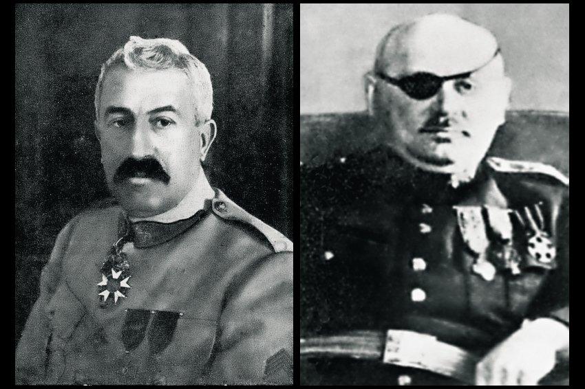 Главнокомандующий Союзными войсками в Сибири генерал М.Жанен и командующий Чехословацким корпусом, генерал-майор Я. Сыровы.