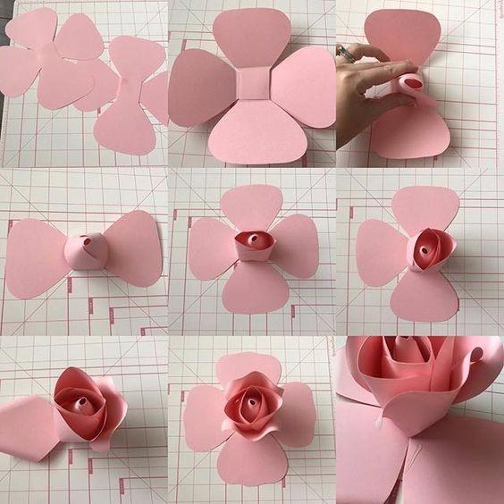 Красота из бумаги в розах разных размеров