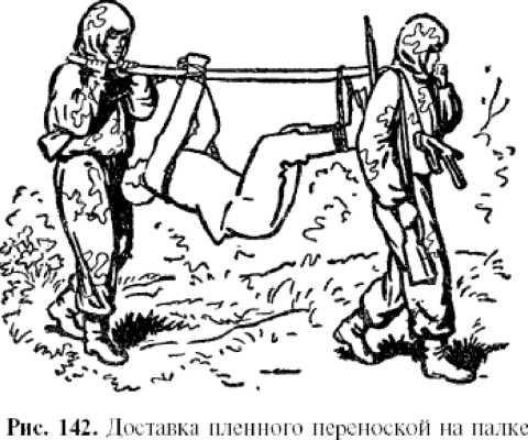 Связанный человек на палке