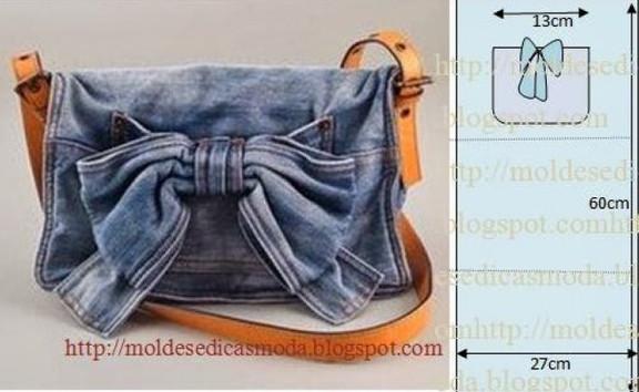 Как сшить сумку своими руками из старых джинс