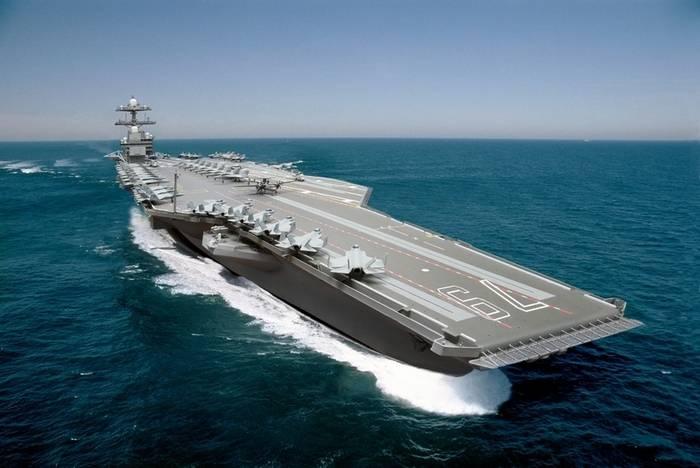 Новый авианосец США готов наполовину